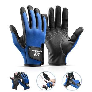 Men Women Sports Non-slip Cycling Fishing Gloves Winter Warm Bike Riding Gloves