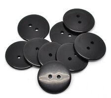 5 Classic Black Resin Sewing Buttons 23mm Sewing, Crafts Scrapbook