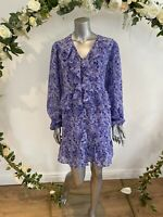 Influence Shirt Smock Dress Size 8,12,18,22 Chiffon Lined Lilac Floral GE29