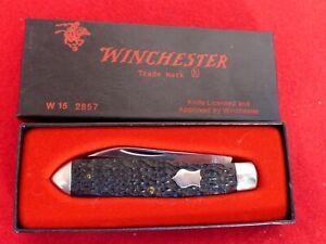 "WINCHESTER USA 1987 3.5"" rogers bone 2857  2 blade Jack knife MIB ld"