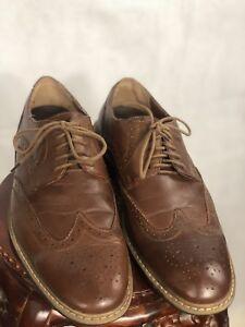 Men's Penguin Welton Oxfords Shoes Size 10M Brown Leather Wingtip Brogue F11