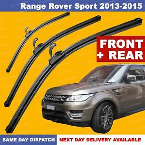 "For  Range Rover Sport 13-15 U-Hook Front & Rear Aero Wiper Blades SET 24""20""16"""