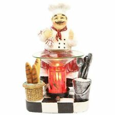 Chef Fragrance Lamp Oil Wax Warmer Electric Polyresin Kitchen Nightlight Set