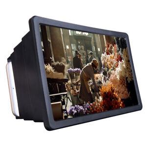 Folding Mobile Cell Phone Screen Magnifier 3D HD Screen Amplifier Stand Bracket