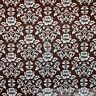 BonEful Fabric FQ Cotton Quilt Brown Cream Rose Flower Damask French Shabby Chic