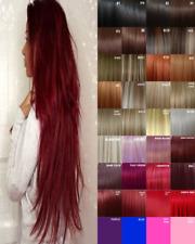 Clip de extensiones de cabello humano Real sentir Gris Lila Ciruela Borgoña Rojo Oscuro Cobre