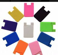 1PC Silicone Credit Card Holder Cell Phone Wallet Pocket Sticker Adhesive