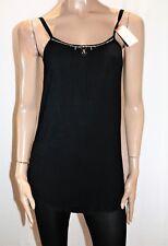 Unbranded Black with Rhinestone Neckline Singlet Cami Top Size M BNWT #TN17