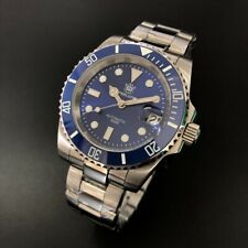 Steeldive SD1953 Blue Watch Sapphire,NH35 BGW9 Lume,Stainless Steel+Waffle Strap
