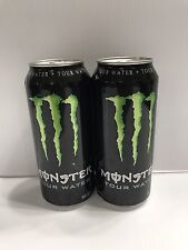 Monster Energy Drink Warped Tour Water. 2 Full Cans Lot. Visible Dents.Dist 2010
