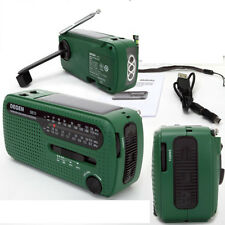 DEGEN DE13 Radio Receiver Crank Dynamo Solar Powered World Receiver FM/AM/SW YUA