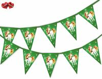 Unicorn Green Christmas or Birthday Bunting Banner 15 flags by PARTY DECOR