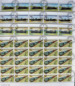 The Upper Volt Republic-Trains & Railroads-25x4 St.CTO-WS170C