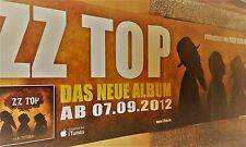 ZZ Top 2012 album + + Orig. Concert Poster-concert affiche 236x84 cm 2 pcs