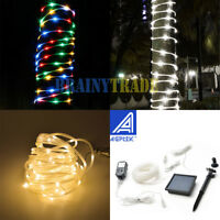 100 LED Solar Power Rope Tube Fairy Lights LED String Waterproof Outdoor Garden