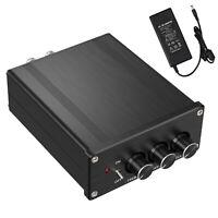 2 Channel Stereo Audio Amplifier Hi-Fi Digital Class D Integrated Amp 100W+100W