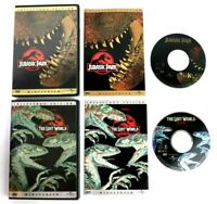 Jurassic Park & The Lost World Collectors Edition DVD Widescreen Movie Bundle