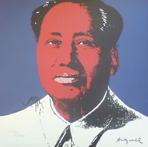 ANDY WARHOL MAO TSE TUNG SIGNED HAND NUMBERED ED 2190/2400 LITHOGRAPH 毛澤東 zedong