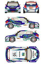 1/43 Decal Skoda Fabia S2000 #10 Rally Montecarlo 2012