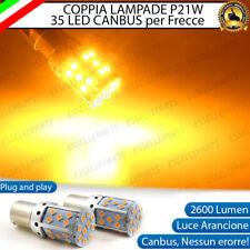 COPPIA LAMPADE P21W BA15S CANBUS 35 LED ARANCIONI BMW X5 E70 FRECCE POSTERIORI