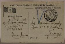 POSTA MILITARE 5a DIVISIONE 19.8.1916 TIMBRO UFFICIO SPROVVISTO DI BOLLO #XP250G