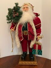 Bombay Company Santa With Presents And Sack Large Tabletop