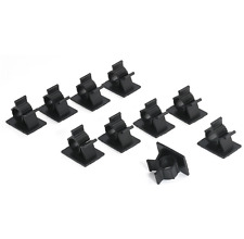 10x Black Cable Clips Adhesive Cord Management Wire Holder Organizer Clamp E7