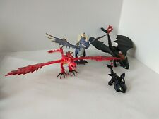 How to train your Dragon Action Figures set of 3 Toothless, Hookfang, Nadder