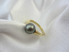 Klassischer Ring aus Gold 585 mit Tahiti-Zuchtperle