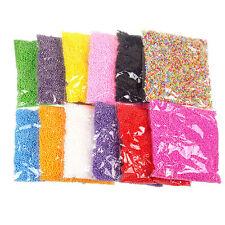 Mini Styrofoam Filler Foam Beads Balls Assorted Colors Polystyrene Crafts New