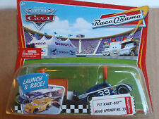 Disney Cars Pit Race-Off Launcher MOOD SPRINGS NO.33 NITROADE NO.28 Error