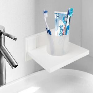 Croydex Bathroom Tumbler Holder Shelf Wall Mounted Soap Toothbrush Toothpaste