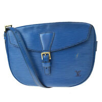 Authentic LOUIS VUITTON Jeune Fille Shoulder Bag Epi Leather Blue M52155 37MF411