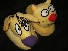 Nwt Women's XL 11-12 Cat Dog Nickelodeon Cartoon Character Plush Slippers Catdog