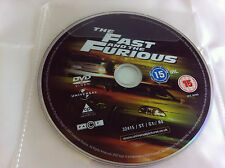 The Fast And The Furious DVD R2 Film - DISC ONLY in Plastic Sleeve