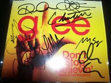 Glee Cast Don't Stop Believing Signed Autographed Australian CD Single