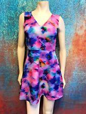 Felicity & Coco Women's Sun Dress Pink Purple Multi, Adjustable Back Bow Size SP