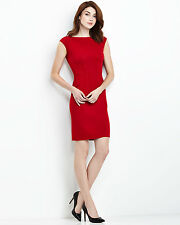 NEW $1095 ST.JOHN COLLECTION RED DRESS 12 (M/L) Classic! HOT!