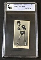 1938 CARTLEDGE RAZOR Famous Prize Fighters #47 SMALL MONTANA GAI 8 NM-MT (A)