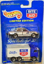 HOT WHEELS LIMITED EDITION RITE AID HIWAY HAULER - FORD XR4TI 2 CAR PACK