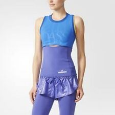 Adidas By Stella McCartney Run Performance Tank AA7406 Blue/Lilac Size SMALL