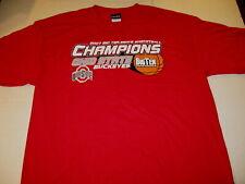 Ohio State Buckeyes Big Ten Mens Basketball 2007 Champions Red T-Shirt New Large