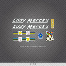 01132 Eddy Merckx Bicycle Stickers - Decals - Transfers - White