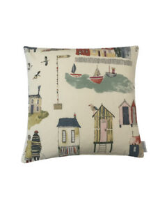 seaside Beach nautical collection harbour Mustard red ivory Blue cushion covers