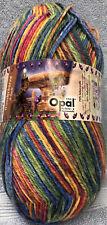 Opal Wunderland 6-Ply Wool/Nylon Sock Yarn #8947 Wunderkerze Primary Colors
