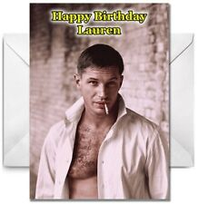 TOM HARDY Personalised Birthday / Christmas / Card - Large A5 - Design 1