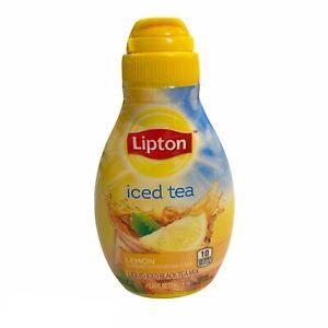 Lipton Iced Black Tea Lemon Liquid Mixed 2.43 oz Water Enhancer Discontinued