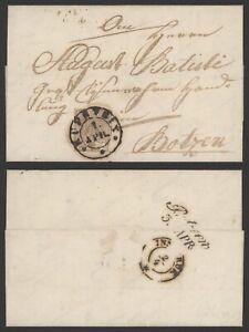 Austria Lombardo-Venetia 1853 - Cover to Botzen L205