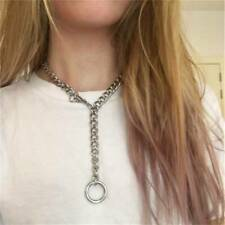 Punk Choker Necklace Jewelry Trendy Thick Chain Circle Necklac J