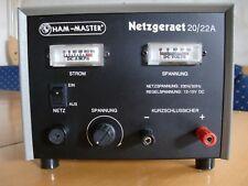 Ham-Master 12-15V 20/22A Netzteil Netzgerät Ladegerät Labor CB-Funk